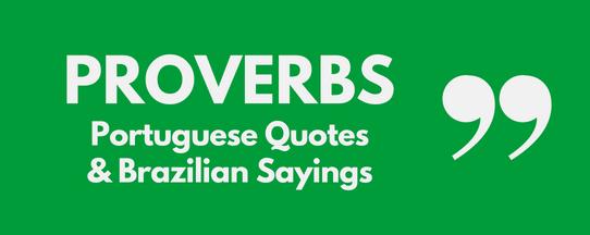 Proverbs in Portuguese