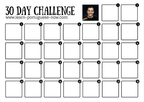 30-Day Portuguese Challenge. Click to Open.